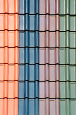 collection of multi color roof tiles